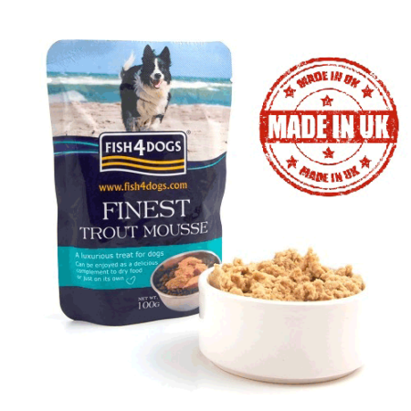 FISH 4 DOGS TROUT MOUSSE 4 DOGS 6x100 gr