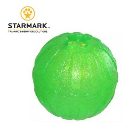 STARMARK Chew ball medium – Zelena silikonska lopta bez uzice