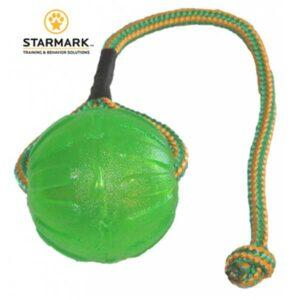 STARMARK Chew ball – Zelena silikonska lopta na uzici