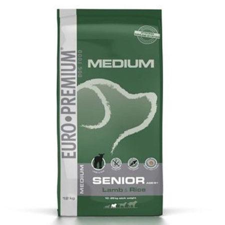 EURO PREMIUM MEDIUM SENIOR ( 22 / 10 ) - janjetina i riža 12 kg