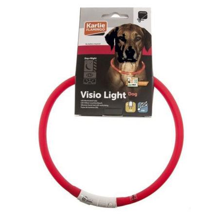 KARLIE LED Svjetleća ogrlica za pse - Ø 20 cm - Ø 70 cm - punjiva na USB