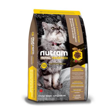 T22 Nutram Total Grain-Free® - Piletina i puretina - 1,8 kg