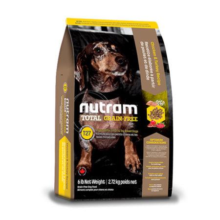 T27 Nutram Total Grain-Free® Piletina, Puretina i patka za male pasmine - 2,72 kg