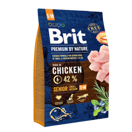 BRIT Premium by Nature SENIOR Small/Medium Breed