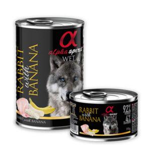 Alpha Spirit Kunić i banana 6 x 400 g