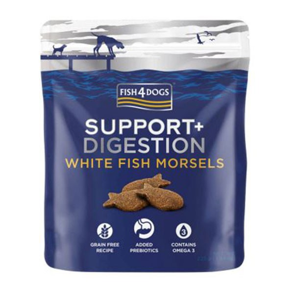 Fish4Dogs Support+ Digestion White Fish Morsels