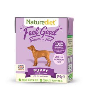 NatureDiet Feel Good Puppy Piletina i Janjetina 7 x 390g + 2 GRATIS
