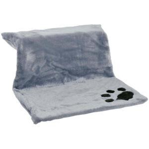 Ležaljka za mačke 46 x 30 x 23 cm - siva