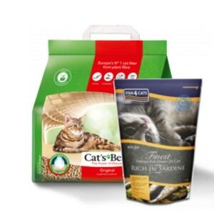 Cat's Best Original 10 lit. + GRATIS Fish 4 Cats 1,5 kg