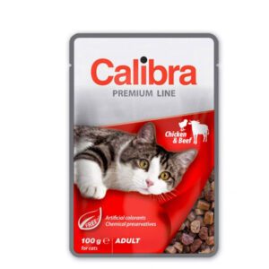 Calibra Cat Premium Adult Piletina i Govedina 6x100g