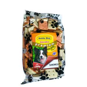 Hobby Dog Biscuits Premium Sandwich 500g